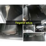 Toyota altis พรมดักฝุ่นไวนิลสีดำ