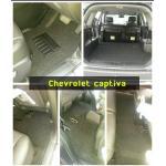 Chevrolet captiva พรมดักฝุ่นไวนิลสีดำ