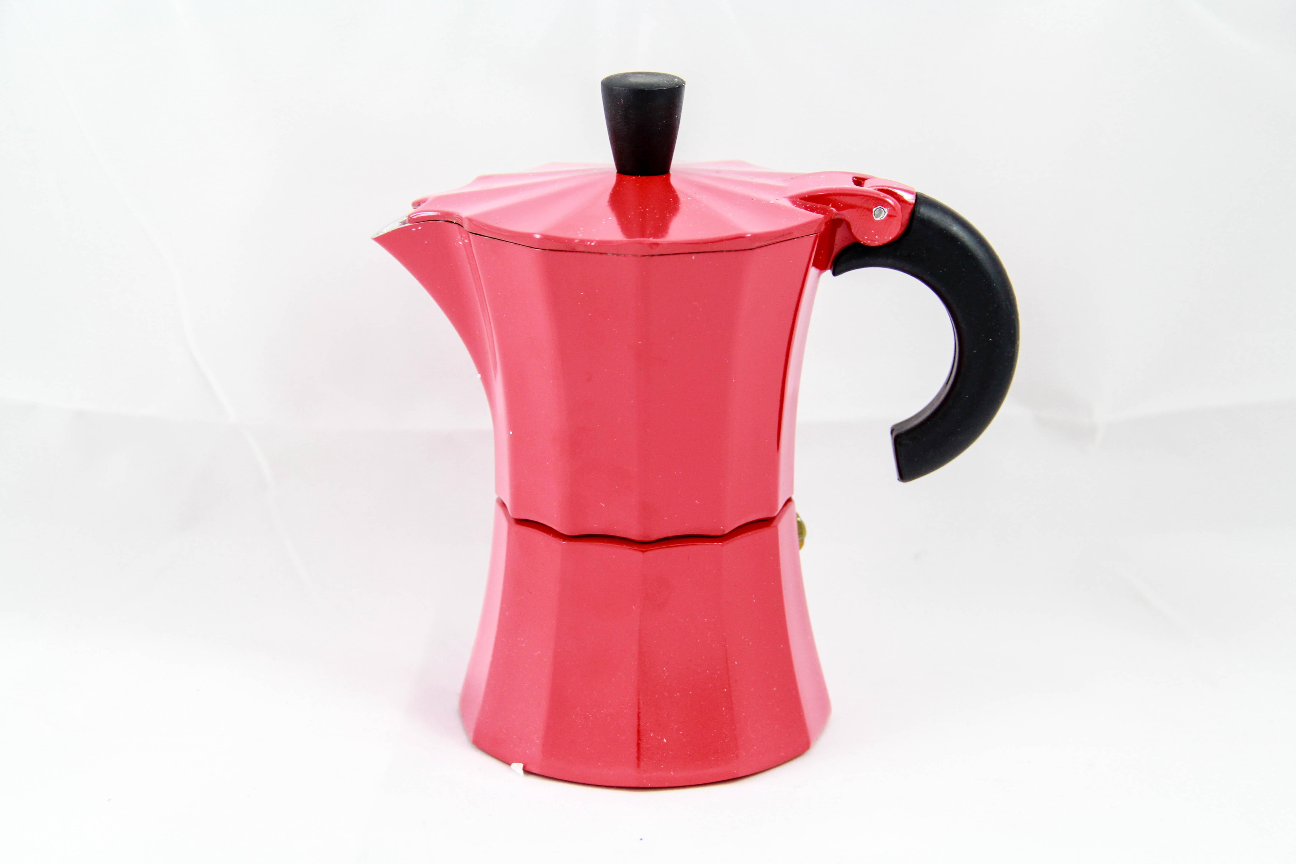 Moka pot 3 cups (สีแดง เหลือง เขียว ชมพู)