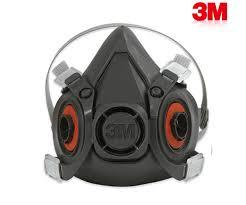 MASK 3M รุ่น 6200 หน้ากากแบบใส้กรองคู่ ใช้กับตลับใส่กรองรุ่น 6001