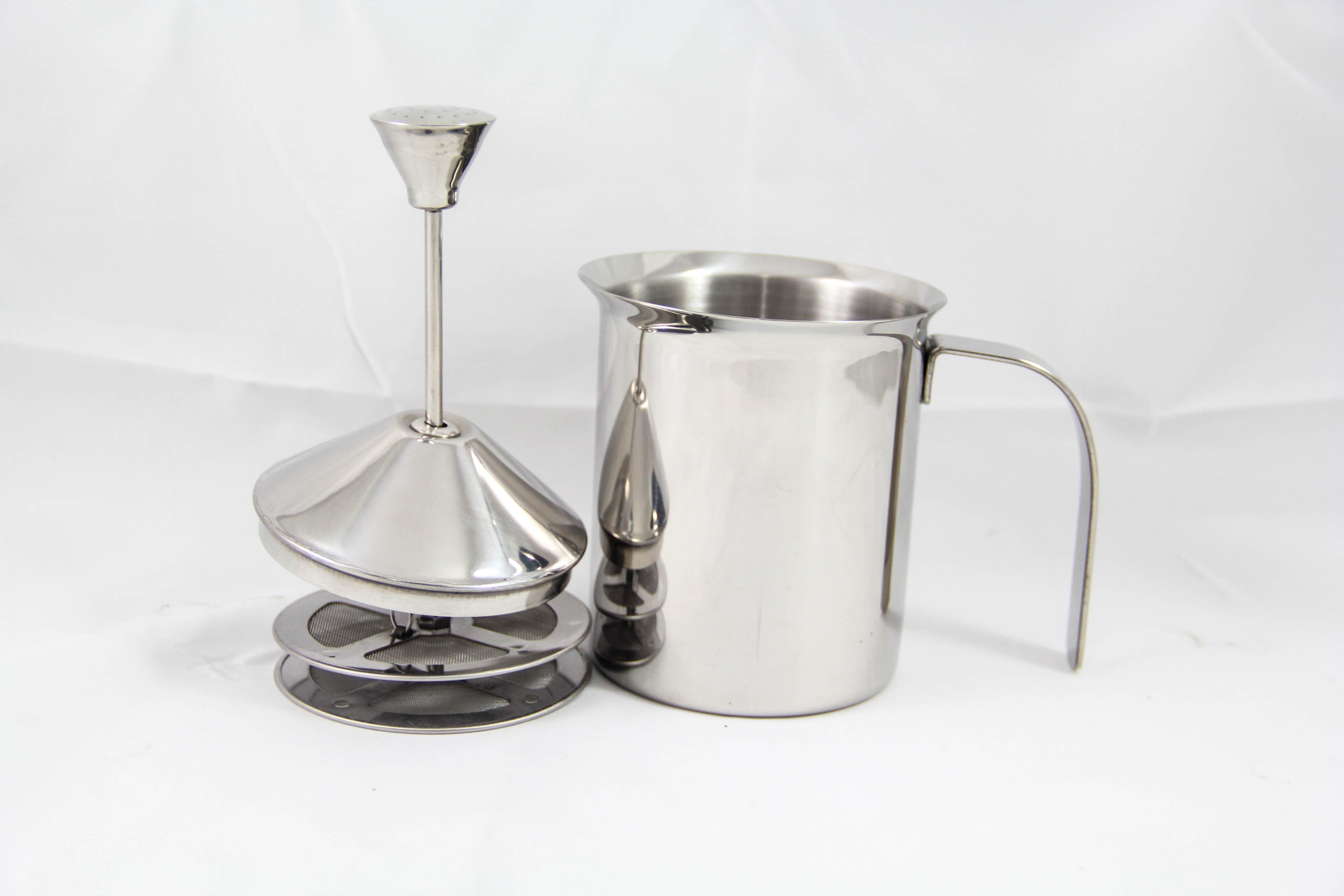เหยือกตีฟองนม มีสปริง (manual) - 400 ml.