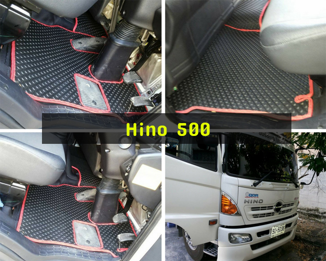 Hino 500 ลายกระดุมดำขอบแดง