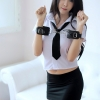 ชุดตำรวจกระโปรงสีดำ(7359) (S / M / L / XL / XXL)