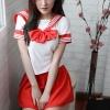 ชุดญี่ปุ่นโบว์สีแดงแดง(6769) (S / L / XL / XXL)