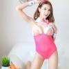 ชุดกระต่ายซีทรูสีชมพู(6375) (ฟรีไซส์)