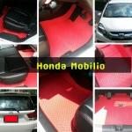Honda Mobilio พรมรถยนต์ ลายกระดุมสีแดง