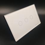 สวิตช์ไฟระบบสัมผัส 2 ทาง รุ่น 3 ปุ่ม สีขาว