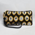 กระเป๋าสตางค์ใส่โทรศัพท์ได้ สีดำทอง
