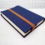ปกหนังสือผ้า handmade ผ้ายีนส์สีน้ำเงิน