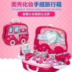 Preorder ของเล่นเด็กนำเข้า ของเล่นเด็กจำลอง ของเล่นเสริมพัฒนา The makeup travelling suitcase in hand กล่องเสริมสวยของสาวน้อย