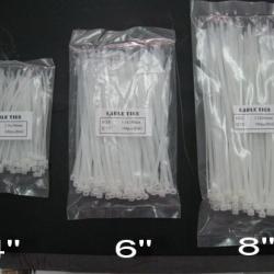 "CT-6INCH CABLE TIE 6"" สายรัดพลาสติ๊กขนาด 6 นิ้ว สีขาว"