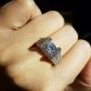 diamond ring แหวนเพชรทรงกลม ประดับด้วยเพชรเม็ดใหญ่