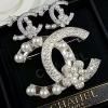flower Chanel Brooch& Earring เข็มกลัด/ต่างหู ชาแนลทรงดอกไม้ประดับมุก มีปั้มLogo งานเพชรCZ6Aฝังแท้ แบบMircosetting