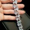 Diamond Bracelet สร้อยข้อมือเพชรหยดน้ำสลับเพชรกลม