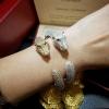 Diamond Cartier Bracelet กำไลหัวเสือ เพชรCZฝังเต็มวง7แถว เพชรเน้นๆ เพชรCZ