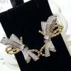ribbon diamond 2tone earring ต่างหูทรงโบ งาน2สี ของแบรนด์ Chaimet