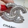 diamond Chanel brooch เข็มกลัดชาแนลเพชร2แถว งานเพชรCZ8Aฝังแท้ เกรดดีที่สุด