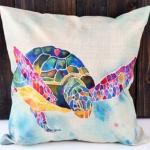 หมอนอิง Graffiti Turtle