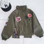 เสื้อแจ็คเก็ตลายปัก สีเขียว