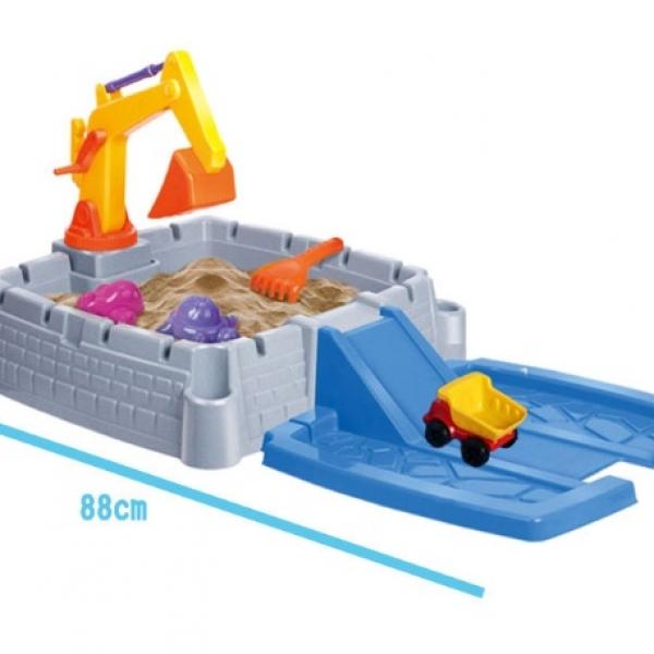 รูปภาพสินค้า กระบะทราย แมคโคร พร้อมอุปกรณ์ 11 ชิ้น Sandbox game ส่งฟรี
